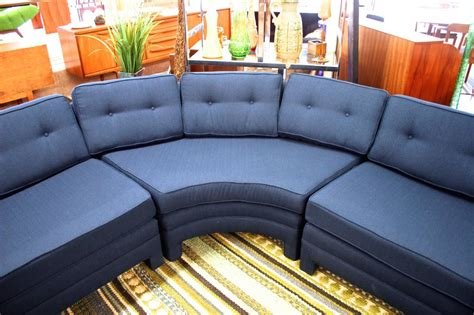 three curved parsons style sectional sofa circa