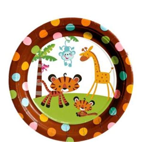 Fisher-Price Jungle Baby Shower Dessert Plates 8ct - Party ... Luau Food Ideas For Party