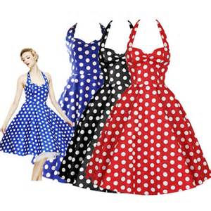 2015 woman 50s 60s vintage swing dresses solid polka