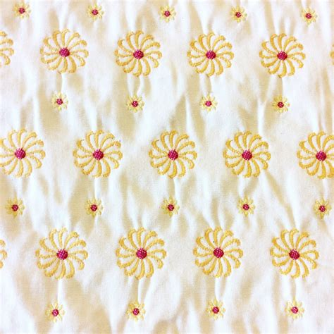 fun upholstery fabric wb152 altizer embroidered daisy flower fun beautiful