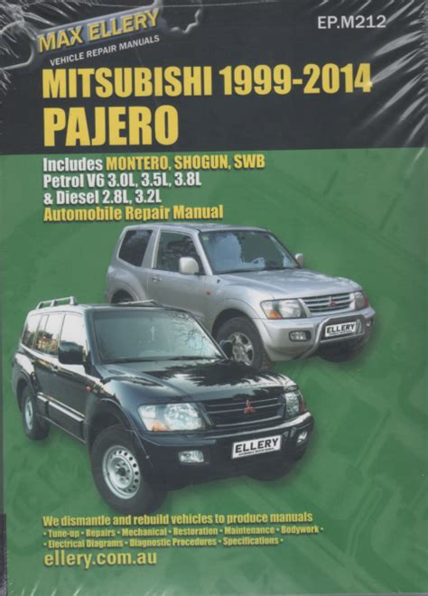 mitsubishi pajero 2000 2014 petrol diesel repair manual sagin workshop car manuals repair
