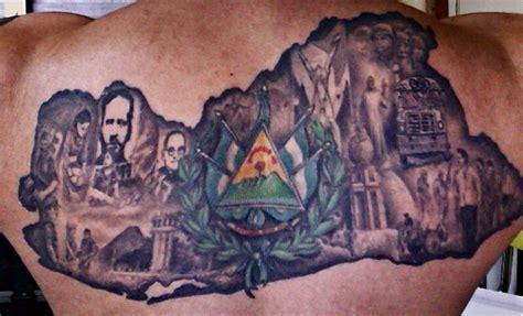 el salvador tattoos el salvador back salvadoreno pride
