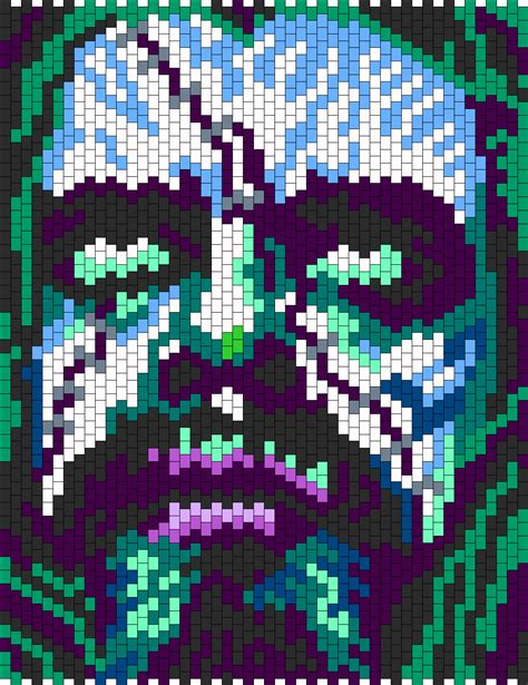 pattern zombie rob zombie bead pattern kandi ideas pinterest rob