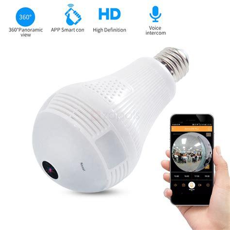 light bulb hidden camera xm 360 degree smart panoramic bulb camera wifi wireless ip