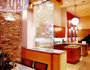 Indoor Waterfall Home Decor Indoor Glass Waterfall Design As Element Of Decoration
