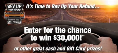 Instant Win Scholarships - rev up your refund instant win game and sweepstakes 2017 2018 usascholarships com
