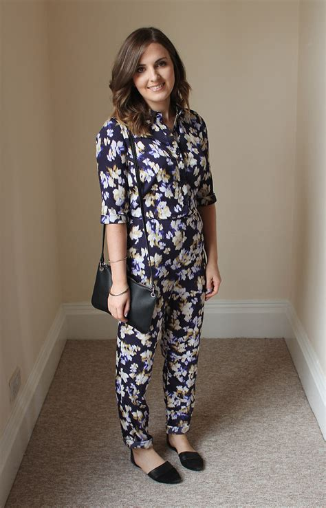 Jsjt217120770144 Jumpsuit Zara Jumpsuit Floral Beige hayley willetts primark jumpsuit mango bag topshop shoes floral jumpsuit lookbook