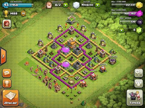 coc layout guide base design town hall level 7 3 defensive on ultimate