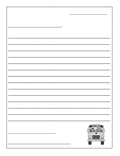 printable letter template for printable friendly letter template for kids 458327
