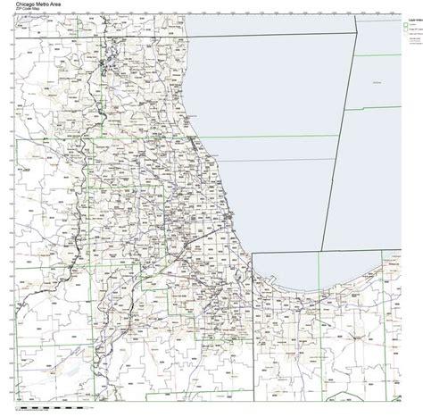 zip code map chicago il chicago zip code illinois
