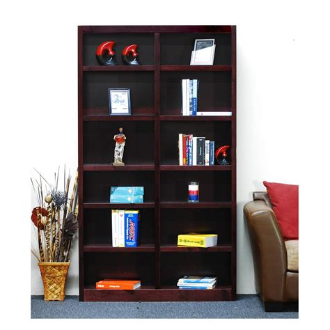 concepts in wood midas wide 12 shelf bookcase in