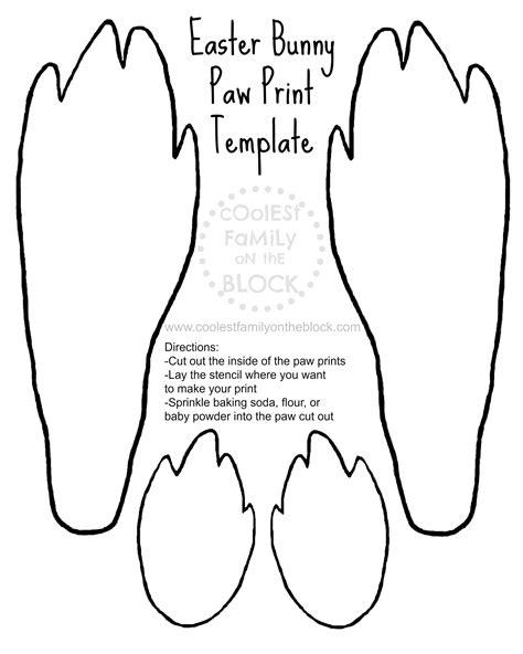 easter bunny paw prints   printable