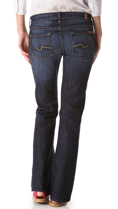 boot cut new york dark 7 for all mankind petite boot cut jeans nouveau new york