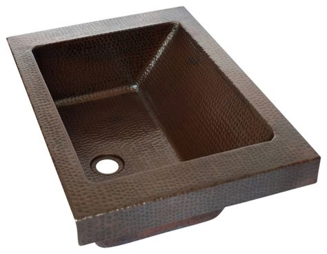 raised bathroom sinks rectangular raised profile bathroom copper sink with apron