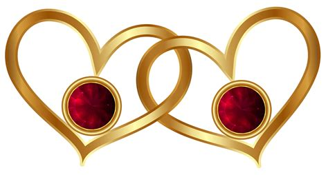 Window Bow golden hearts with red diamonds png clipart best web clipart
