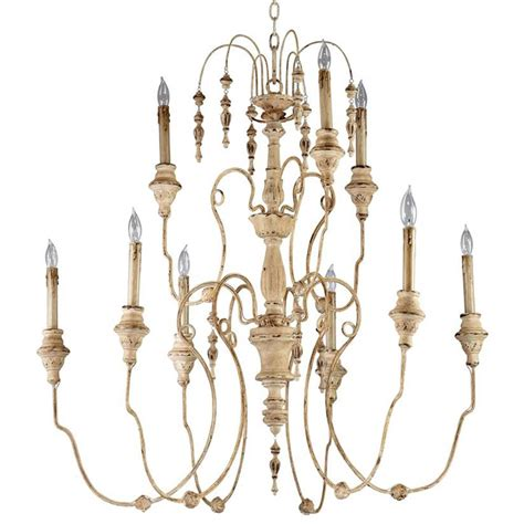 antique white chandelier maison country antique white 9 light chandelier