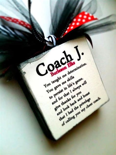 coach cheer wood blocks coach sign dance coach sign