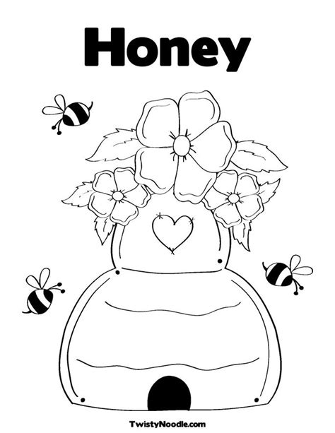 free honey pot coloring pages