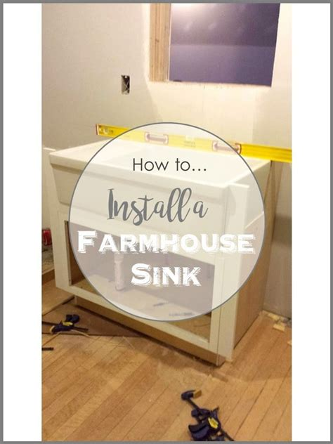 installing a sink how to install a farmhouse sink