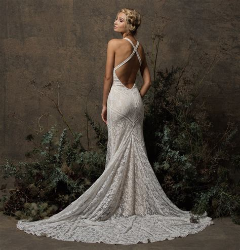 backless lace dita backless boho lace wedding dress dreamers and lovers