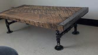 Pipe Leg Coffee Table Customizable Industrial Coffee Table Barnwood Distressed Pipe Legs Reclaimed Character