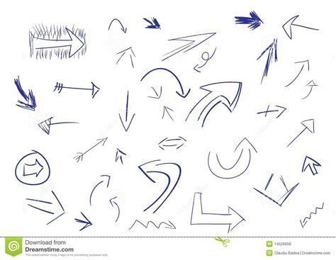 free doodle arrow font doodle arrows royalty free stock photos image 14526658