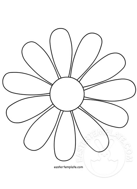 printable daisies flowers daisy flower template easter template