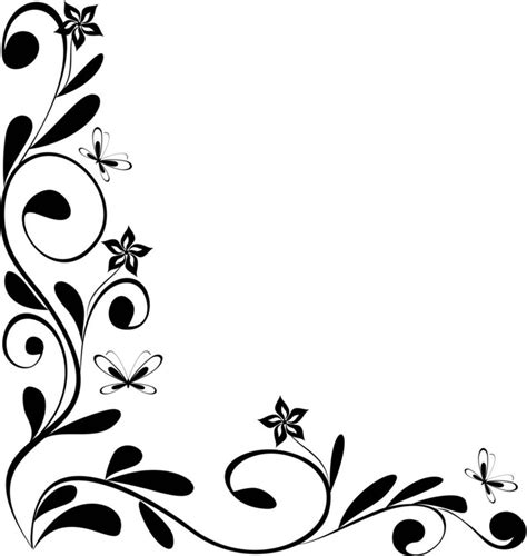 design black and white borders design black and white clipart best