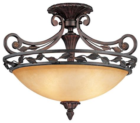 Lodge Ceiling Lights Rustic Lodge Scavo Leaf And Vine Bronze 21 Quot Wide Ceiling Light Fixture Traditional Ceiling