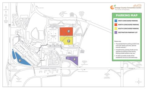 orange county convention center floor plan orange county convention center parking map page 1