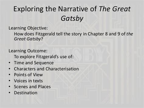 key themes of the great gatsby the great gatsby chapters 8 and 9