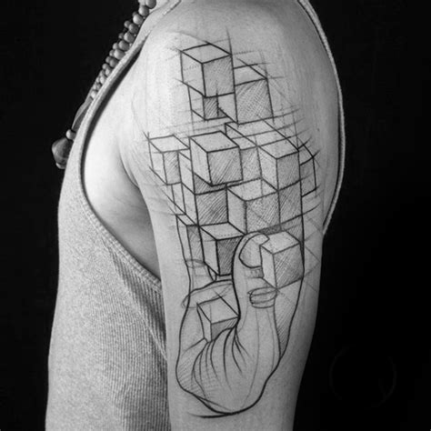tattoo 3d cube 40 unique arm tattoos for men masculine ink design ideas