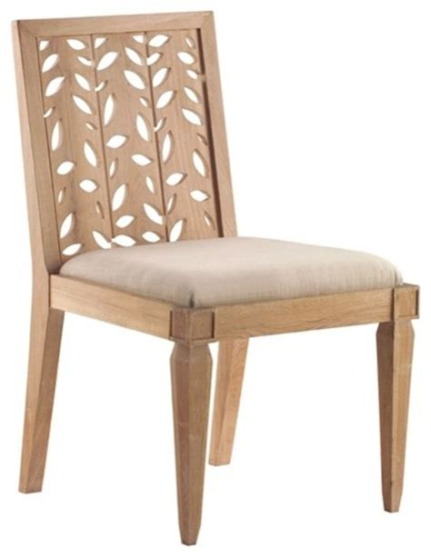 matisse side chair in cerused oak contemporary dining