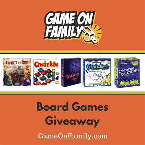 Game Giveaway Sites - spring fever board games giveaway game on family