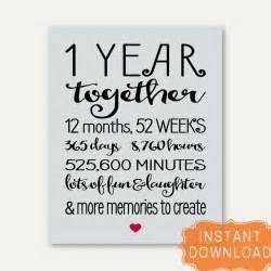 1 year anniversary sign annviersary gift for boyfriend