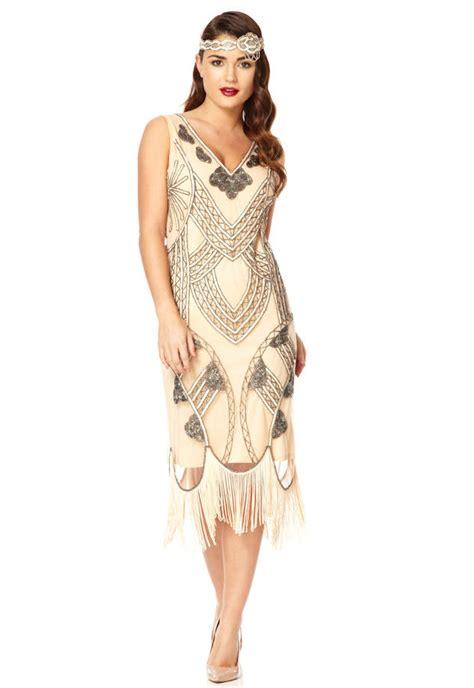 Swing Style Frauen by 20s Inspired Flapper Fringe Dress By Gatsbylady