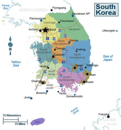 map of south korea map for south korea