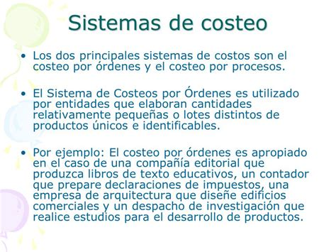 propuesta de un sistema de costo por procesos para las sistema de costos por 211 rdenes ppt video online descargar