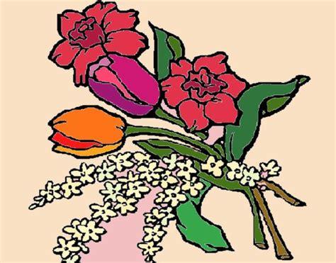 mazzo di fiori colorato disegno mazzo di fiori colorato da utente non registrato