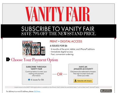 Vanity Fair Magazine Subscription by Vanity Fair Magazine Subscription