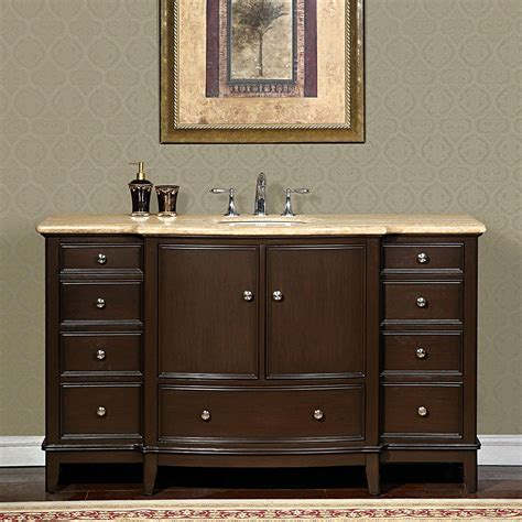 60 bathroom vanity sink 60 perfecta pa 6003 bathroom vanity single sink cabinet