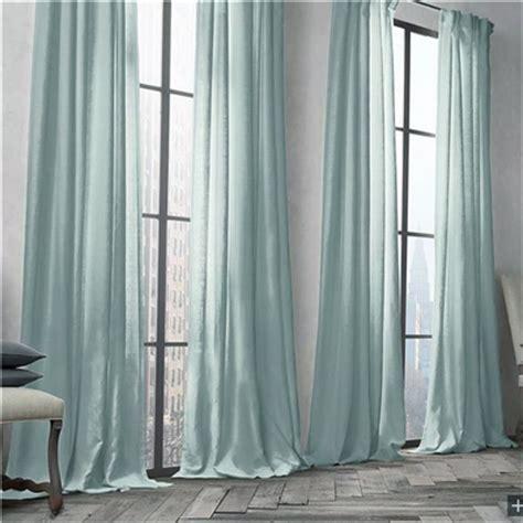 vorhang mintgrün 遮光カーテン 北欧カーテン オーダーカーテン ライトターコイズ 無地柄 麻 綿 3級遮光カーテン 1枚 gt028