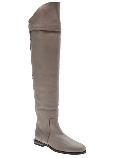 gray the knee boots maiyet the knee boot in gray grey lyst