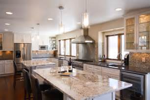 25 contemporary two island kitchen designs every cook medium sized kitchen with two islands one island is 2