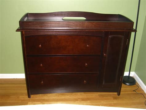 Cherry Changing Table Dresser Combo Home Furniture Design Changing Tables Dressers
