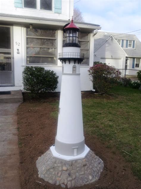 backyard lighthouse custom lawn lighthouses handcrafted authentic replicas