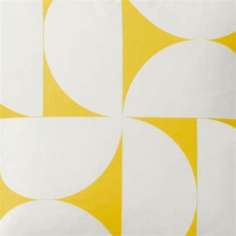 scandinavie len tkanina zasłonowa scandinavian big geometric yellow