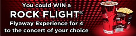 Cinemark Gift Card Costco - the coca cola cinemark rock flight sweepstakes win tickets and a trip to a live