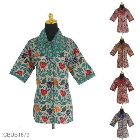 Blus Kembang Murah blus batik tanggung pekalongan motif kembang angur blus lengan tanggung murah batikunik