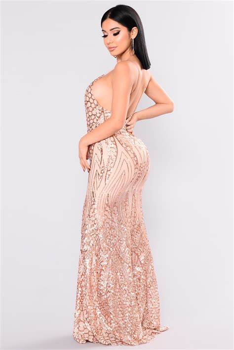 Kalung Fashion Rosegold 1 all the world sequin dress gold